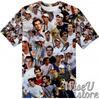 Andy Murray T-SHIRT Photo Collage shirt 3D