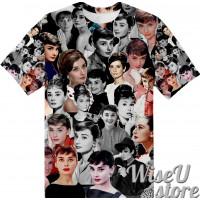 Audrey Hepburn T-SHIRT Photo Collage shirt 3D