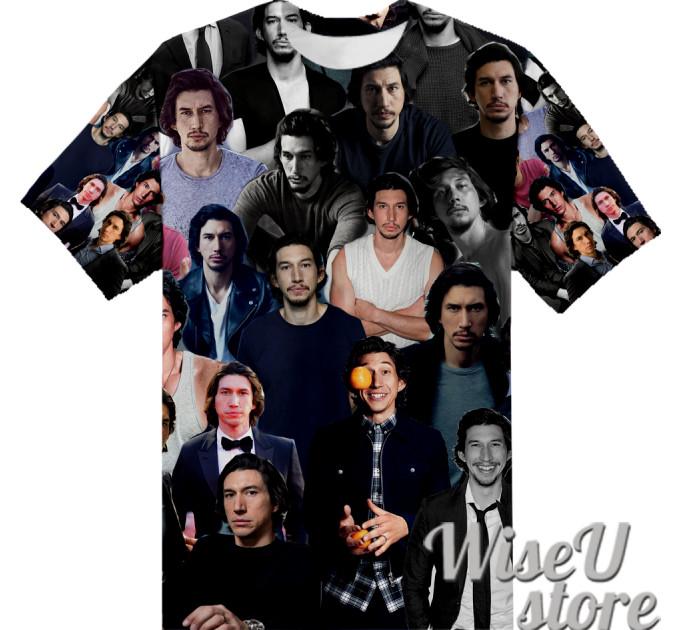 Adam Driver T-SHIRT Photo Collage shirt 3D
