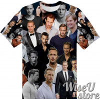ALEXANDER SKARSGARD T-SHIRT Photo Collage shirt 3D