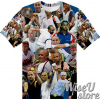 Andre Agassi T-SHIRT Photo Collage shirt 3D