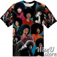 ANGELA DAVIS T-SHIRT Photo Collage shirt 3D