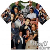 Arnold Schwarzenegger  T-SHIRT Photo Collage shirt 3D