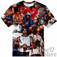 2pac  T-SHIRT Photo Collage shirt 3D