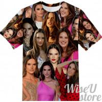 Alessandra Ambrosio  T-SHIRT Photo Collage shirt 3D