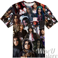 Alice Cooper  T-SHIRT Photo Collage shirt 3D