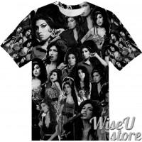 Amy Winehouse T-SHIRT Photo Collage shirt 3D