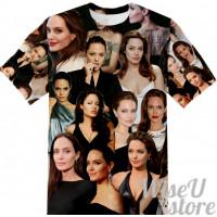 Angelina Jolie T-SHIRT Photo Collage shirt 3D