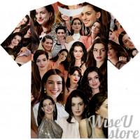 Anne Hathaway T-SHIRT Photo Collage shirt 3D