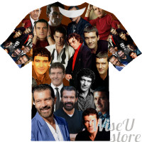 Antonio Banderas T-SHIRT Photo Collage shirt 3D