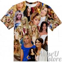 Ashley Tisdale T-SHIRT Photo Collage shirt 3D