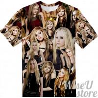 Avril Lavigne T-SHIRT Photo Collage shirt 3D