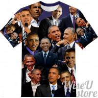 Barack Obama T-SHIRT Photo Collage shirt 3D