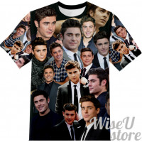 ZAC EFRON T-SHIRT Photo Collage shirt 3D